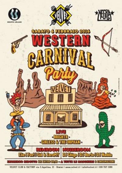 Western Carnival Party al Velvet Rimini