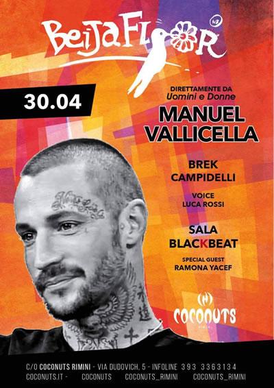 BeijaFlour di inizio estate al Coconuts con Manuel Vallicella