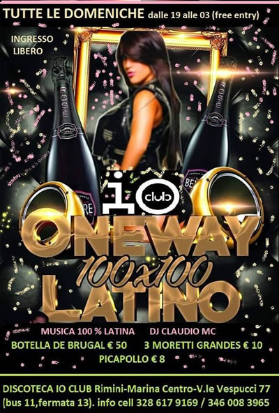 Domenica 100% latino all'Io Club Rimini