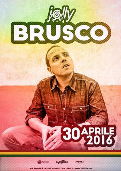 Dj set e concerto live di Brusco al Jolly Disco