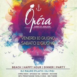 Weekend sotto le stelle sulla spiaggia dell'Opéra Riccione