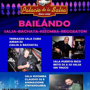 Il venerdì notte Los Diablos Party al Palacio de la Salsa
