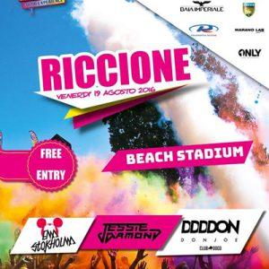 Holi Dance Festival sulla spiaggia di Riccione