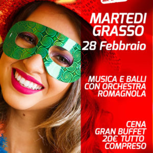 Grande festa di Martedì Grasso al Frontemare Rimini