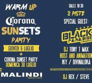 Corona Sunset Warm up Party al Malindi Cattolica