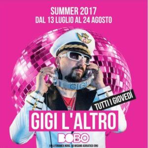 Gigi l'altro è il protagonista del Bobo Riccione