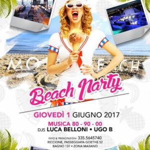 Luca Belloni inagura il primo Beach Party del Mojito Riccione