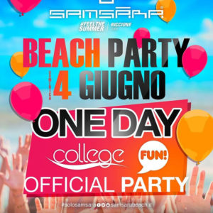 Samsara Beach presenta One Day Party