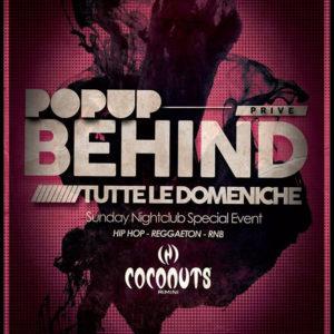 Behind, tutte le domeniche al Coconuts Rimini