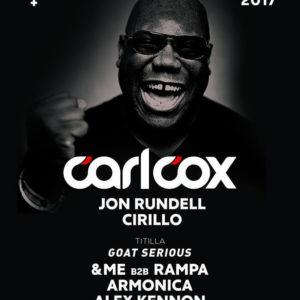 Ultimo Cocorico Riviera Festival 2017. Si balla tutta la notte con Carl Cox e Cirillo!