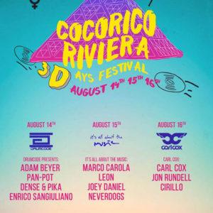 Cocorico Riviera Festival giorno 2. Marco Carola in Consolle!