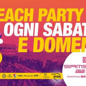 Attenzione Beach Party! Tutti i weekend Samsara Riccione
