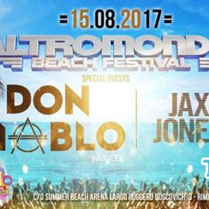 A Ferragosto tutti in spiaggia con l'Altromondo Beach Festival e Don Diablo