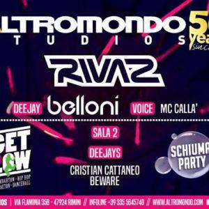 Rivaz si scatena allo Schiuma Party Altromondo Studios