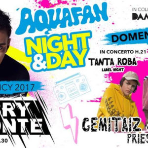 Gemitaiz, Madman e Priestess dal vivo all'Aquafan Night & Day