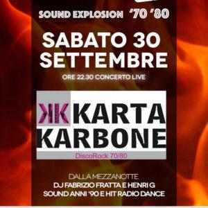 Rivivi gli anni 70 al Frontemare Rimini con i Karta Karbone.