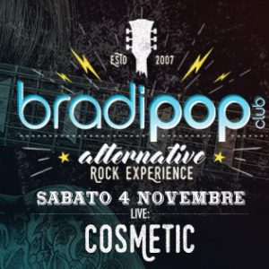 La band romagnola Cosmetic in concerto al Bradipop Rimini