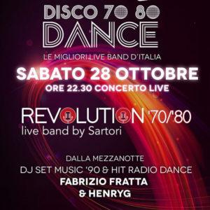Serata Revolution anni 80 al Frontemare Rimini
