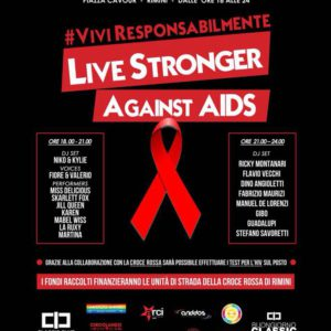 Classic Club in piazza con live Stronger Against Aids #ViviResponsabilmente