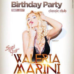 Valeria Marini è l'ospite d'onere al compleanno del Classic Club