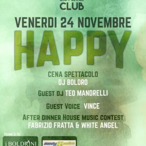 Venerdì Happy al Frontemare Rimini