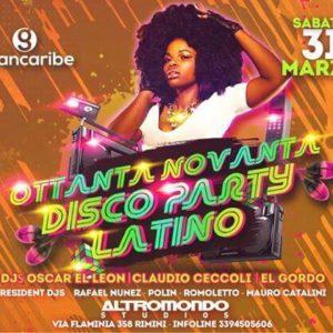 Altromondo e Grancaribe presentano Disco Party Latino