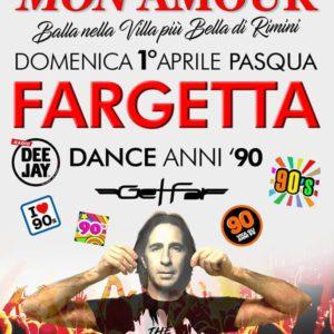 Pasqua 100% anni 90 al Mon Amour Rimini. In consolle arriva Fargetta!