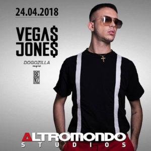 Vegas Jones in live per un concerto esplosivo all'Altromondo Studios