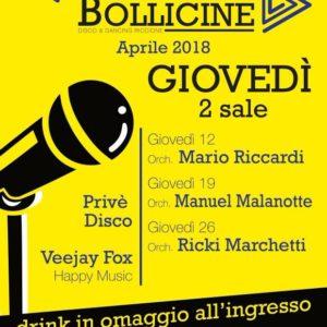 Ricki Montanari in concerto al Bollicine Riccione