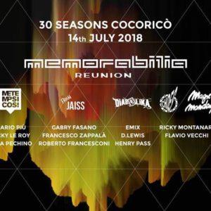 Memorabilia 2018 Cocorico Riccione