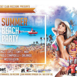 Arriva il Beach Party al Reset Club
