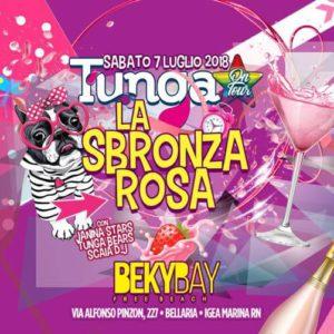 Notte Rosa al Beky Bay con lo staff del TUNGA