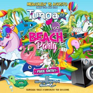 Samsara Riccione Beach Party con il TUNGA