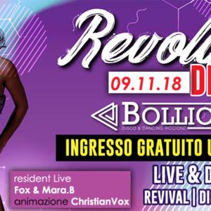 Serata Revolution al Bollicine Riccione
