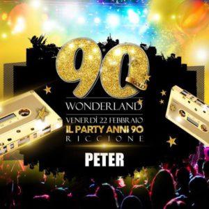 Peter Pan presenta Wonderland Gold Riccione