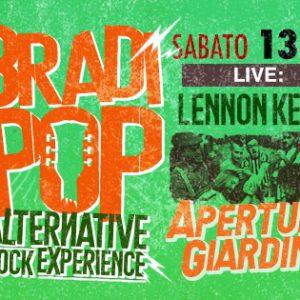 Sabato rock al Bradipop con Lennon Kelly