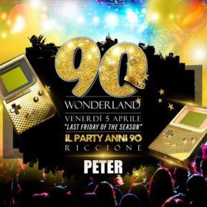 90's Wornderland Gold Riccione grazie al Peter Pan Riccione