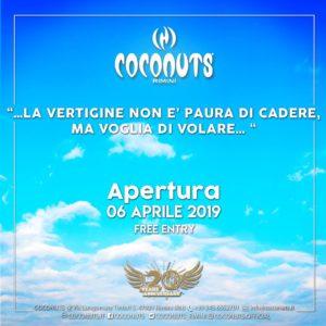 Grande festa di apertura del Coconuts Rimini.
