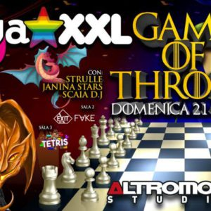 Pasqua Altromondo Studios con Tunga XXL e Game of Throne