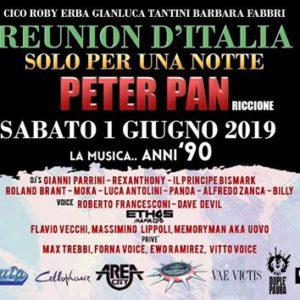 Reunion Italia. Il grande raduno anni 90 ti aspetta al Peter Pan Riccione