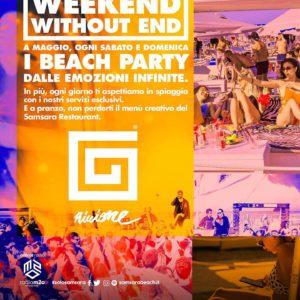 Il weekend parte alla grande al Samsara Riccione e i Beach Party.