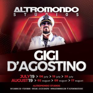 Gigi d'Agostino sbarca all'Altromondo Studios. Sei pronto?