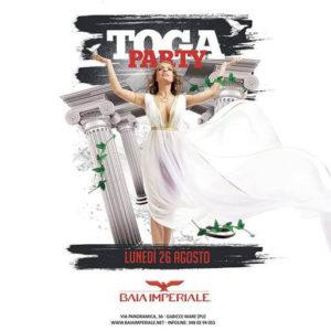 Ultimo Toga Party per la Baia Imperiale. Non mancare al glorioso evento in stile romano!
