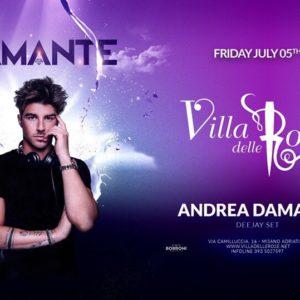 Il venerdì Notte Rosa si anima alla Villa delle Rose con Andrea Damante.