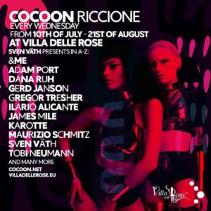 Ilario Alicante ti aspetta al Cocoon Party della Villa delle Rose