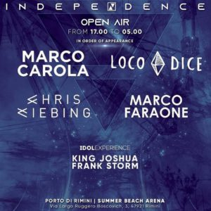 Marco Carola e Loco Dice insieme per un Ferragosto Stellare sulla Spiaggia di Rimini con il Cocoricò!