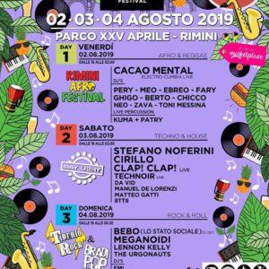 Sei pronto per il Tiberio Music Festival 2019? Oggi si balla in compagnia dei grandi ospiti House e Techno.