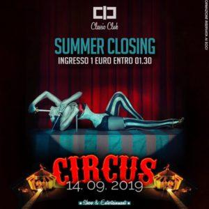 Classic Club closing party Circus