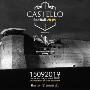 MotoGp After Party con Villa delle Rose e Samsara al Castello degli Agolanti di Riccione