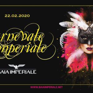 Alla Baia Imperiale si balla tutti in maschera. Preparati per il Carnevale Imperiale.
